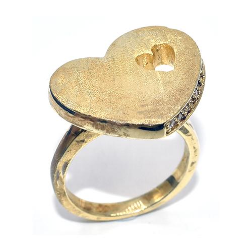 Δαχτυλίδι ασήμι 925 χρυσό ματ με πέτρες ζιργκόν 9f97c7221d5