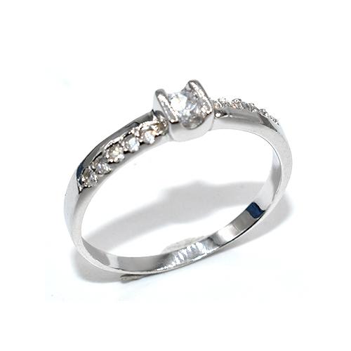 Δαχτυλίδι ασήμι 925 μονόπετρο με πέτρες ζιργκόν 430768b2912
