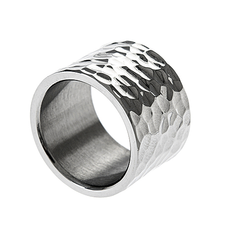 Δαχτυλιδι ατσαλι 316L σε ασημι βερα φαρδια bf29398975e