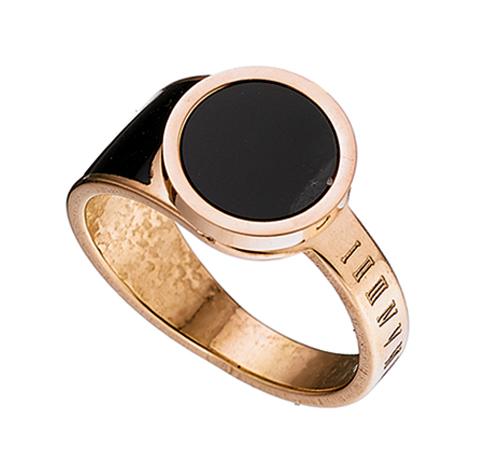 Δαχτυλίδι ατσάλι 316L σε ροζ χρυσό με μαύρη πετρα 2bb59c51e50