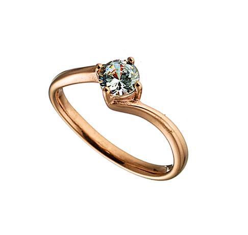Δαχτυλίδι ατσάλι 316L μονοπετρο σε ροζ χρυσο με πετρα ζιργκον 07f28232dbb