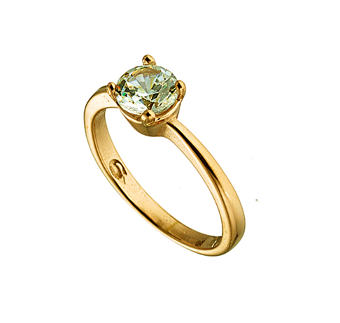 Δαχτυλιδι ατσαλι 316L σε χρυσο μονοπετρο με πετρα ζιργκον 4cc75cdda42