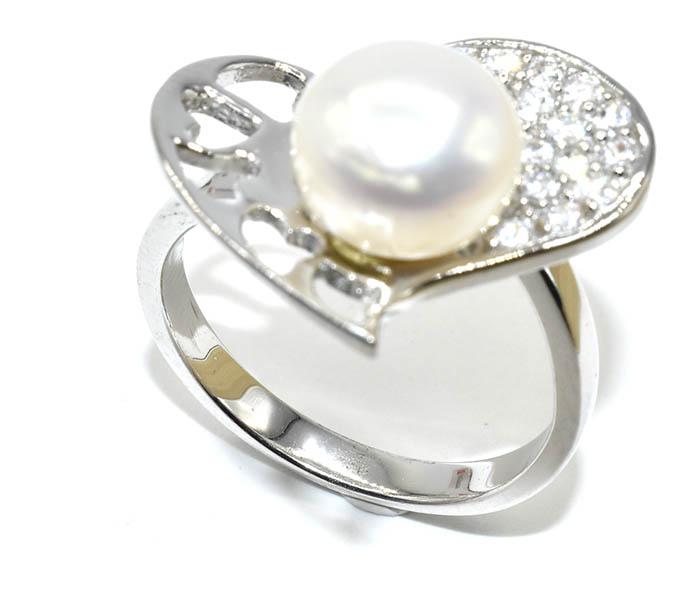 Δαχτυλιδι ασημι 925 επιπλατινωμενο με περλα και πετρες ζιργκον 5a60fd3b2bd
