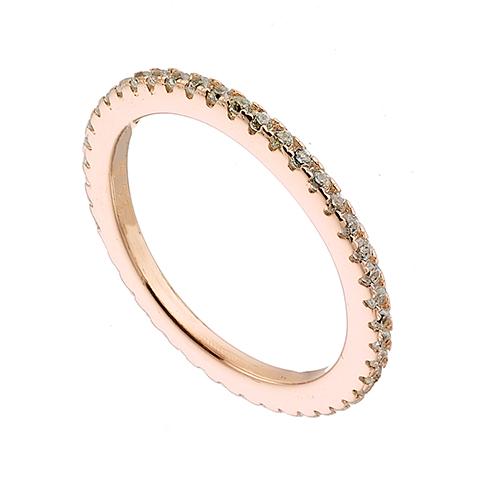Δαχτυλιδι ασημενιο 925 επιλατινωμενο ολοβερο με πετρες ζιργκον σε ροζ χρυσο a1283275e9e