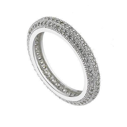 Δαχτυλιδι ασημενιο 925 επιπλατινωμενο ολοβερο με πετρες ζιργκον 4339463f48d