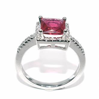 Δαχτυλίδι ασήμι 925 με κόκκινη πέτρα καί πέτρες ζιργκόν 2edfc7e89d8