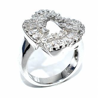 Δαχτυλίδι ασήμι 925 με μπαγιέτες και πέτρες ζιργκόν 97c48c7a748